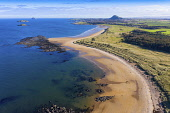 Aerial view of Yellowcraigs beach on Firth of Forth in East Lothian, Scotland, UK Iain Masterton /Scottish Viewpoint Yellowcraigs beach East lothian,Yellowcraigs beach scotland,scottish beach,beaches,firth of forth,aerial view,drone,view,autumn,UK,united Kingdom,britain,british,europe,European,rural,landscape,coast,
