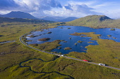 Aerial view of Lochan na h-Achlaise and A82 road crossing Rannoch Moor in summer, Scotland, UK Iain Masterton /Scottish Viewpoint Rannoch Moor Scotland,Scotland Rannoch Moor,A82 road,highway,infrastructure,transport,transportation,highways,roads,communications,wilderness,wild,Scotland,Scottish,travel,tourism,scottish tourism,aer