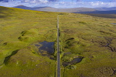 Aerial view of A82 road crossing Rannoch Moor in summer, Scotland, UK Iain Masterton /Scottish Viewpoint Rannoch Moor Scotland,Scotland Rannoch Moor,A82 road,highway,infrastructure,transport,transportation,highways,roads,communications,wilderness,wild,Scotland,Scottish,travel,tourism,scottish tourism,aer