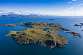 Aerial view of Tanera Mor the largest of the Summer Isles archipelago in Highland region of Scotland. UK Iain Masterton /Scottish Viewpoint Summer Isles Scotland,Scottish Islands,Highland region,Loch Broom,UK,United Kingdom,Britain,British,travel,tourism,scenic,landscape,aerial view,from above,islands,archipelago,scotland the summer isles