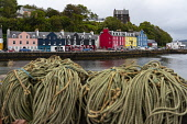 View of colourful buildings along waterfront at Tobermory harbour on Mull, Argyll & Bute, Scotland, UK Iain Masterton /Scottish Viewpoint Scotland,Tobermory,Tobermory Mull,Mull,Scottish village,Isle of Mull,Island of Mull,Mull Scotland,Argyll & Bute,uk,united kingdom,britain,british,harbour,exterior,travel,tourism,harbours,colourful bui