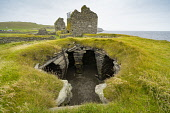 View of archeological site of ancient settlements at Jarlshof in Shetland, Scotland, UK Iain Masterton /Scottish Viewpoint Jarlshof Shetland,Shetland Jarlshof,Scotland,Scottish,archeological site,UK,United Kingdom,Britain,British,wheelhouse,daytime,travel,scottish history,culture,excavations,former settlement,neolithic,pr