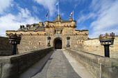 Entrance gate to Edinburgh Castle, Scotland, UK Iain Masterton /Scottish Viewpoint Edinburgh Castle,scotland,scottish castle,edinburgh,exterior,edinburgh castle gate,entrance,UK,United Kingdom,Britain,british,travel,tourism,historic monument,famous place,tourist attraction