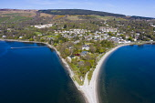 View of Rhu village on the Gare Loch in Argyll and Bute, Scotland, UK Iain Masterton /Scottish Viewpoint Rhu Scotland,Scotland Rhu,aerial,from above,drone image,daytime,view,Argyll & Bute,Scotland,Scottish village,seafront,waterfront,uk,United Kingdom,Britain,british,rural,travel tourism,villages,Gare lo