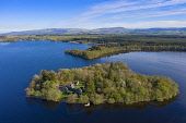 Aerial view of Inchmahome Priory on Inchmahome Island on the Lake of Menteith in Stirlingshire, Scotland, UK Iain Masterton /Scottish Viewpoint Inchmahome priory Scotland,Scotland,Scotland Inchmahome Priory,Inchmahome island,Lake of Menteith,Scottish priory,monastery,historical monument,UK,United kingdom,Britain,british,daytime,nobody,aerial,