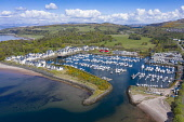 Aerial view of yacht marina and luxury housing development at Kip Marina at Inverkip, Inverclyde, Scotland, UK Iain Masterton /Scottish Viewpoint Kip Marina,Inverkip,Inverclyde,Kip marina harbour,aerial view,drone,image,daytime,Scotland,Scottish,harbour,yacht marina scotland,Uk,United kingdom,britain,british,coast,river clyde,firth of clyde,wes