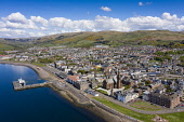 Aerial view of seaside town of Largs in North Ayrshire, Scotland, UK Iain Masterton /Scottish Viewpoint Largs,largs Scotland,North Ayrshire,seaside,scotland,former resort,scottish town,aerial view,drone,image,daytime,travel,tourism,west coast scotland,scotland west coast,river clyde,firth of clyde,view,