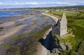 Aerial view of Greenan Castle 16th century ruined tower house south of Ayr, South Ayrshire, Scotland, UK Iain Masterton /Scottish Viewpoint Greenan castle,Ayr,south Ayrshire,scotland,scottish castle,ruined tower house,aerial view,drone,image,daytime,seaside,coast,coastal,travel,tourism,historic monument,U,United Kingdom,britain,british,cl