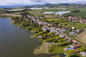 Aerial view of village of Kilconquhar in Fife, Scotland, UK Iain Masterton /Scottish Viewpoint Kilconquhar fife,Kilconquhar Scotland,Scotland,Scottish village,rural,community,aerial view,drone image,sunshine,extetrior,travel,tourism,small village,villages,uk,united Kingdom,britain,british