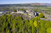 Elevated view of Stirling Castle, Stirling, Scotland, UK Iain Masterton /Scottish Viewpoint Stirling Castle scotland,Scottish castle,stirling,scotland,stirling castle,exterior,aerial view,drone,image,daytime,nobody,Uk,United kingdom,britain,british,tourism,travel,tourist attraction,destinati