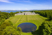 Aerial view of Hopetoun House, South Queensferry, West Lothian,Scotland, UK Iain Masterton /Scottish Viewpoint Hopetoun House,Scotland,Scottish stately home,aerial view,drone,image,daytime,uk,United Kingdom,Britain,british,exterior,landscape,west lothian,south queensferry,Hopetoun House Scotland,sunshine,sunny