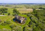 Aerial view of Caerlaverock Castle in Dumfries and Galloway, Scotland, UK Iain Masterton /Scottish Viewpoint Caerlaverock Castle Scotland,Scotland,Scottish castle,Caerlaverock Castle,Dumfries and Galloway,aerial view,daytime,nobody,UK,United Kingdom,Britain,British,travel,tourism,historic monument,historical