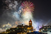 Fireworks over Edinburgh on new Year's Eve 31 December 2019, Scotland, UK Iain Masterton /Scottish Viewpoint Edinburgh,hogmanay,Scotland,Scottish,fireworks,edinburgh castle fireworks,new year,new years fireworks,bairns afore,night,fireworks display edinburgh castle,edinburghÕs hogmanay