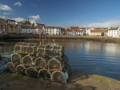 St Monans Harbour East Neuk of Fife Allan Coutts  /Scottish Viewpoint boats,colour,colour image,day,dock,fife,fishing industry,fishing village,harbour,horizontal,lobster pots,outdoors,outside,over,photography,port,scottish culture,sea,skies,st,st monans harbour,stone,to