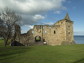 St Andrew's Castle, Fife Allan Coutts  /Scottish Viewpoint architectural,architecture,building,castle,cliffs,coast,coastal,cultural,culture,day,daytime,destination,fife,fortification,fortified,heritage,historic,historical,history,interest,landmarn,no one,old,