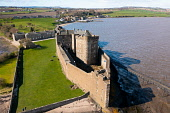 Aerial view from drone of Blackness Castle on Firth of Forth in Scotland, UK Iain Masterton /Scottish Viewpoint Blackness Castle,Blackness Castle Scotland,Scotland,from the air,aerial view,from drone,looking down,UK,united kingdom,Britain,british,Europe,European,travel,tourism,tourist destination,attraction,Sco