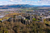 Aerial view from drone of Stirling Castle (closed during Covid-19 lockdown) in Stirling, Scotland, UK Iain Masterton /Scottish Viewpoint Stirling Castle,Stirling Castle Scotland Stirling,Scotland,aerial view,from drone,from above,birds eye view,from the air,high angle viewpoint,daytime,no person,UK,united Kingdom,britain,british,histor