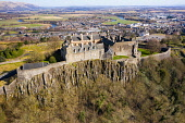 Aerial view of Stirling Castle , Stirling, Scotland UK Iain Masterton /Scottish Viewpoint Stirling Castle Scotland Scotland Stirling Castle,Uk,Scotland,United Kingdom,britain,british,aerial view,from above,drone view,scottish castle,historic scotland site,tourism,travel tourist destination