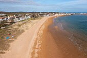 Aerial view of beach at Earlsferry and Elie on the East Neuk of Fife, in Scotland, UK Iain Masterton /Scottish Viewpoint Elie,Elie Scotland,Scotland,Elie Fife,Fife Elie,Earlsferry Scotland,Earlsferry Beach,beaches,seaside,East Neuk of Fife elie,elie beach,daytime,village,coast,coastal village,UK,United Kingdom,britain,b