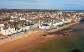 Aerial view of village of Elie on the East Neuk of Fife, in Scotland, UK Iain Masterton /Scottish Viewpoint Elie,Elie Scotland,Scotland,Elie Fife,Fife Elie,East Neuk of Fife elie,elie beach,daytime,village,coast,coastal village,UK,United Kingdom,britain,british,travel tourism,villages,seaside,nobody,sunshin